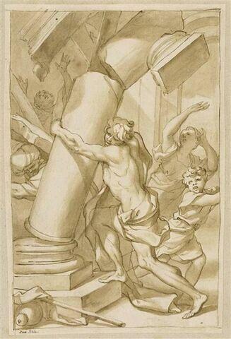 Samson détruisant le palais des Philistins
