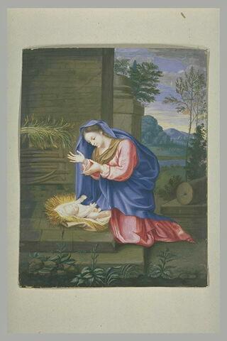 La Vierge adorant l'Enfant