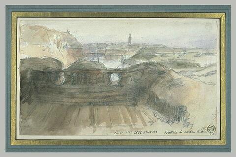Batterie de contre-brèche, lors du siège d'Anvers