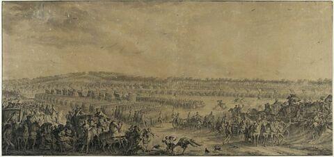 Revue passée par Louis XV à la plaine des Sablons (1769)