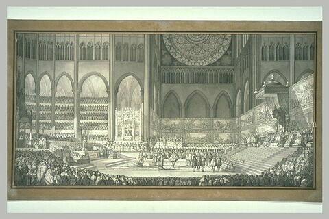 Etude pour le couronnement de Marie de Médicis à Saint-Denis le 13 mai 1610