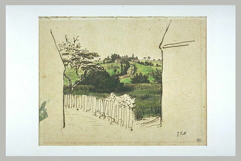 Echappée sur la campagne entre deux maisons, Vichy