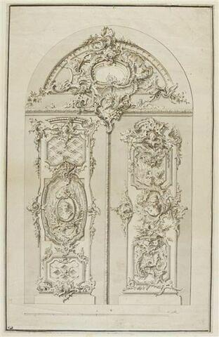 Etude d'une porte à deux vantaux