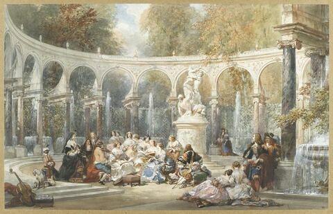 Réunion dans le bosquet de la Colonnade à Versailles