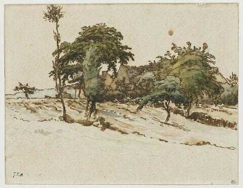 Maisons parmi des arbres aux environs de Vichy