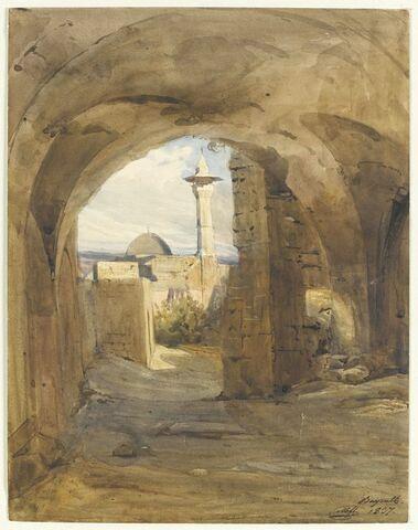 Porte percée dans la muraille des remparts de Beyrouth