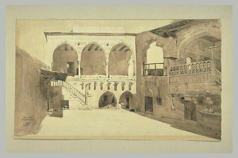La cour intérieure de la maison de l'Emir à Broumana