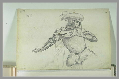 Un cavalier médiéval, vu en buste