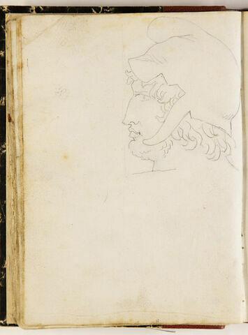 Tête de jeune homme coiffé du bonnet phrygien