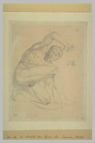 Etude d'homme agenouillé, d'après l'antique