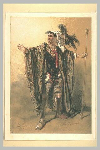 Portrait présumé de Mélingue en Coriolan