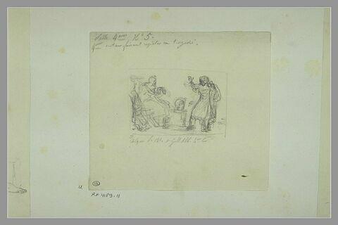 Etude d'une peinture en grisaille de la salle IV du musée Charles X