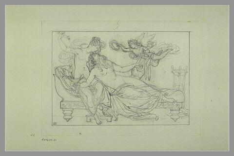 Etude d'une peinture en grisaille de la salle VII du musée Charles X