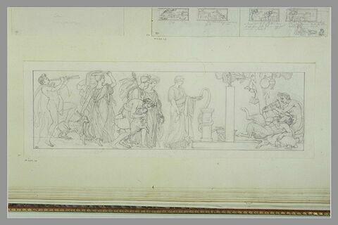 Etude d'une peinture en grisaille de la salle VIII du musée Charles X