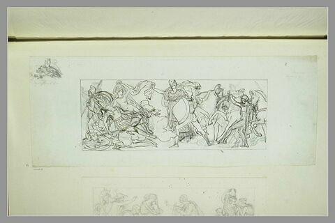 Etudes d'une peinture en grisaille de la salle IX du musée Charles X