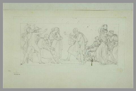 Etude d'une peinture en grisaille de la salle IX du musée Charles X