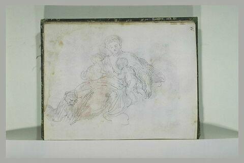 Femme avec trois enfants (La Charité ?)