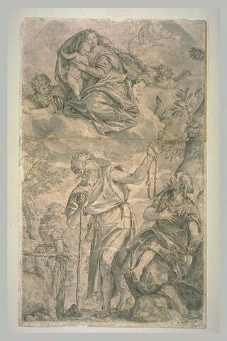 La Vierge apparaissant à saint Antoine et à saint Paul Ermite