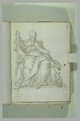 Urbain VIII assis, vu de face, la main droite levée