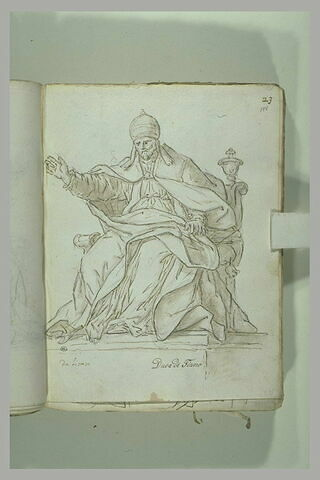 Urbain VIII, tourné vers la gauche