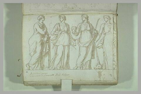 Fragment de bas-relief : quatre Muses