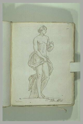 Femme nue debout, retenant une draperie