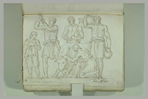 Sacrifice d'un boeuf d'après un bas-relief antique