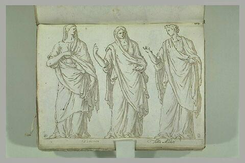 Trois femmes drapées, debout