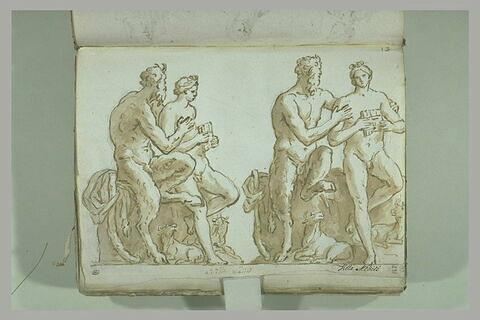Le Groupe de Pan et Daphnis, vu sous deux angles différents