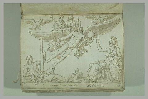 Copie d'après un relief la base de la colonne d'Antonius-Pius...