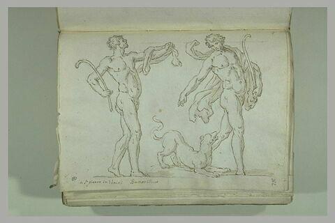 Deux satyres accompagnés d'une panthère