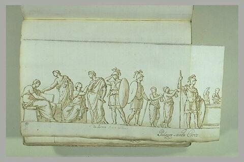 Cérémonie sur un bas-relief de sarcophage