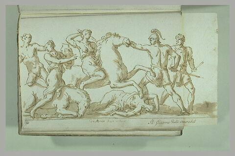 Le Combat des Amazones contre Achille et Ulysse