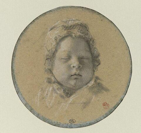 Portrait du roi de Rome (1811-1832) de face