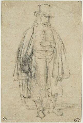 Un jeune seigneur coiffé d'un chapeau de haute forme