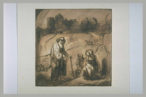 Elie rencontrant la veuve de Sarepta et son fils