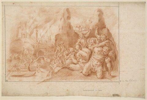L'embarquement des Grecs après la prise de Troie