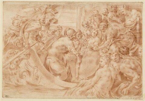 Ulysse reçoit d'Eole l'outre des vents