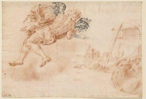 Zéphir pousse la flotte d'Ulysse