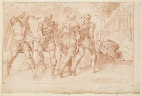 Ulysse donnant ses armes à Eumée