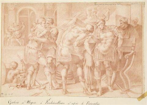 Ulysse recevant les hommages de ses sujets