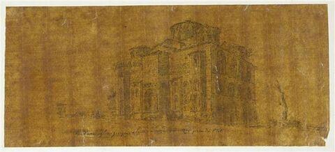Vue d'une église grecque à l'Arta