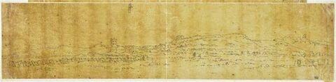 Vue panoramique en Grèce ; figure