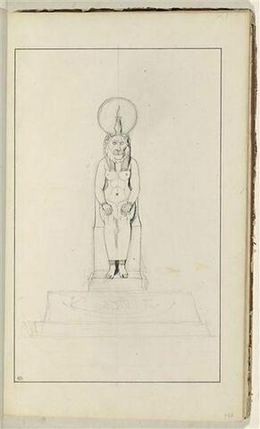 Etude d'une sculpture égyptienne représentant la déesse Sekhmet