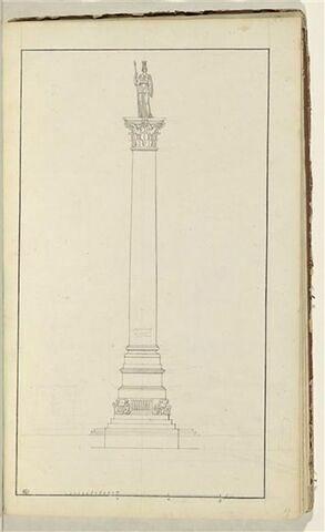 Etude d'un monument surmonté d'une figure de Minerve