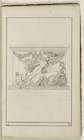 Etude de la base de la colonne d'Antonin : apothéose d'Antonin et Faustine