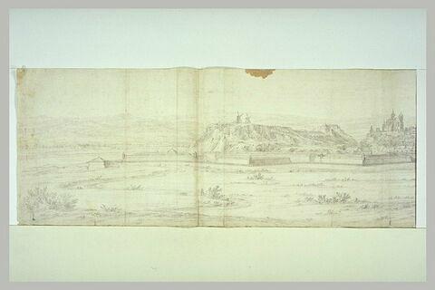 Vue générale de la ville de Brissac
