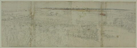 Vue de la ville de Lille du côté du prieuré de Fives