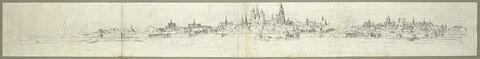 Vue de la ville de Maastricht pendant un bombardement