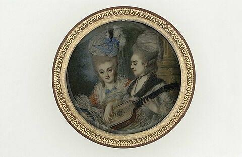 Deux dames faisant de la musique